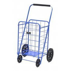 Blue Jumbo Laundry/shopping Folding Cart