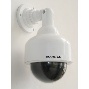 USAHITEC Outdoor Dome Fake Security Camera with Inflared Leds BLINKING LIGHT