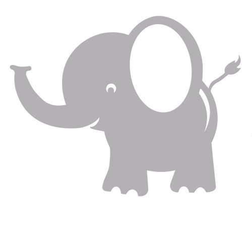 Elephant Decal Wall Stickers For Kids Rooms: Removable Wall Decals For Girls And Boys, Stickers For Cars And Nursery Decor. Easily Change The Room Design, Theme, Or Decor With These Removable Decals Without Damaging Walls Or Having To Repaint (Five Decals