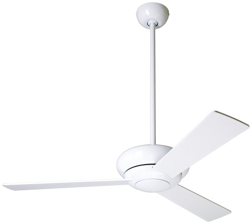 42 modern fan altus gloss white modern ceiling fan yusgfidsg - Modern white ceiling fan ...