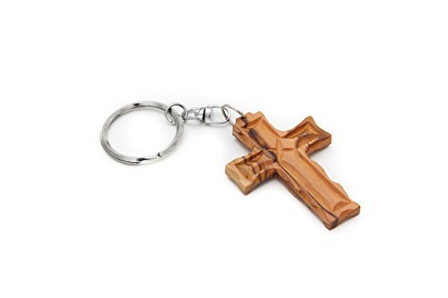 from-the-earth-olive-wood-latin-cross-keychain-fair-trade-handmade-by-from-the-earth