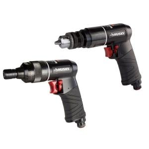 Husky Drill & Impact Driver Air-Tool Combo Kit