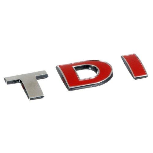 3D07228-Chrome-rouge-3D-emblme-de-la-voiture-auto-adhsif-logo-caractres-3M-auto-adhsif-TDI