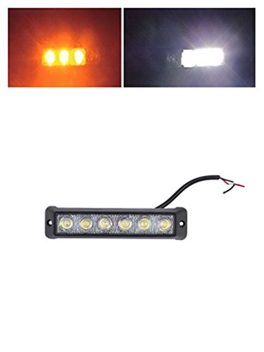 [autvivid 18W Flood LED Flash Strobe Light Bar 6LED Driving for Jeep Cabin Boat SUV Truck Car ATVS Fishing Deck] (Optimus Prime Costume 2016)
