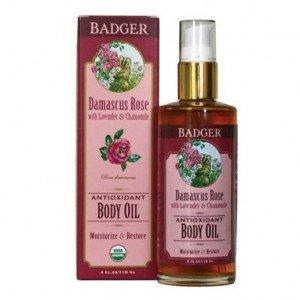 Badger Antioxidant Body Oil - Damascus Rose
