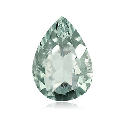 4.00-4.25 Cts of 14x9 mm AA Pear Green Amethyst ( 1 pc ) Loose Gemstone