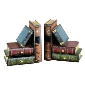 Classic Wooden Book Bookends Library W/ Hidden Drawers (Classic Bookends compare prices)
