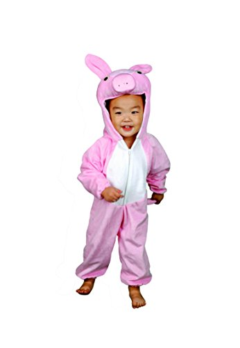 [RoarSoar Pretend Play Pig Costume (Age 4 to 6), Medium, One Color] (Pig Costume Amazon)