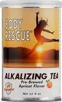 Body Rescue Alkalizing Tea Prebrewed Apricot 4 oz 2 Pack