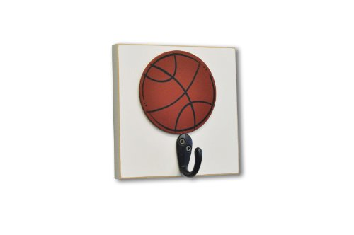 Homeworks Etc Basketball Single Wall Hook, Orange - 1