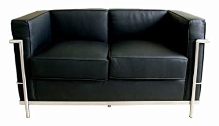 Black Le Corbusier Petite Loveseat