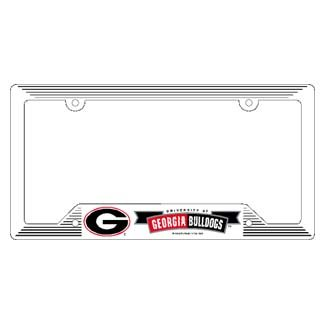 NCAA Georgia Bulldogs Plastic License Plate Frame, Team Color, One Size (Bulldogs License Plate compare prices)