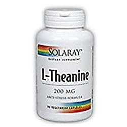 Solaray - L-Theanine, 90 veggie caps