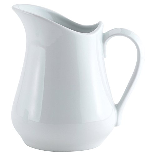 HIC Classic Porcelain Pitcher and Creamer, White, 8-Ounce (Small Pitcher With Spout compare prices)