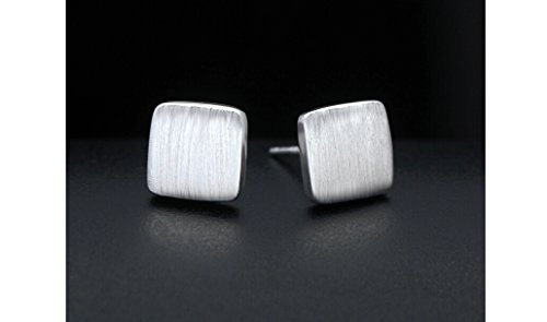 925 Sterling Silver Square Shaped Stud Earrings