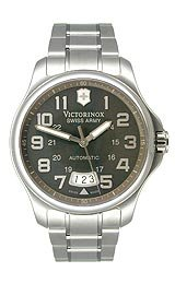 Victorinox Swiss Army Officer's Automatic Bracelet Charcoal Dial Men's Watch #241373