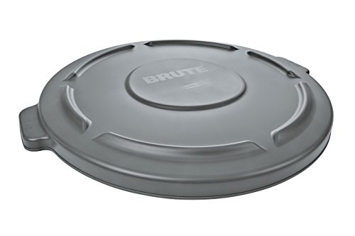 Rubbermaid Commercial Polyethylene Lid for 2620 Trash Cans, Round, Gray (FG261960GRAY) (Trash Can Rubbermaid compare prices)