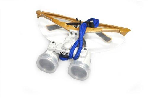 Generic Brand New Silver Dental Surgical Binocular Loupes 3.5X 320Mm Optical Glass Loupe