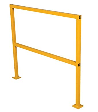 "Vestil SQ-48 Square Safety Rigid Handrail without Toeboard, Steel, 48"" Length, 42"" Height"