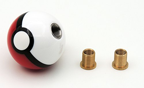 SFVAN-Pokemon-Pokeball-Round-Shift-Knob-Available-With-Two-Adapters-Fits-Most-Cars