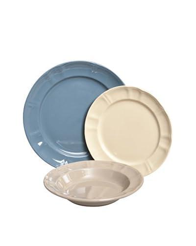 Enjoy Home  Servizio Tavola 18 pezzi Azzurro/Écru/Crema