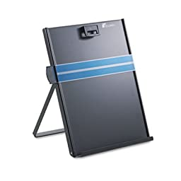 Metal Copyholder, Stainless Steel, 200 Sheet Capacity, Black, Sold as 1 Each