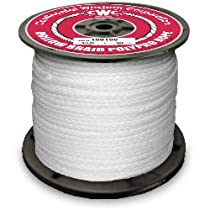 PolyPro Hollow Braid Rope - White - 1/4