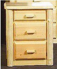 Viking Log Furniture Northwoods 2 Drawers Nightstand