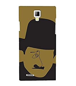 PrintVisa Funny Charlie Chaplin Design 3D Hard Polycarbonate Designer Back Case Cover for Micromax Canvas Xpress A99
