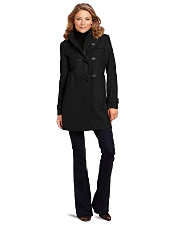 Tommy Hilfiger Women's Hooded Toggle Coat, Black, 2