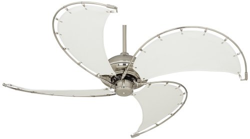 52″ Aerial Brushed Nickel Canvas Blade Ceiling Fan