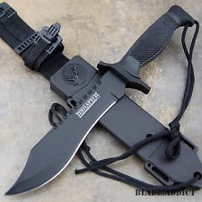 "12"" Tactical Bowie Survival Hunting Knife w/ Sheath Military Combat Fixed Blade"