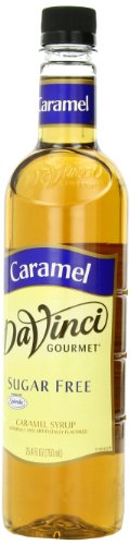 DaVinci Gourmet Classic Sugar Free Syrup, Caramel, 25.4-Ounce Bottles (Pack of 3)