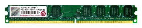 Transcend JetRAM Memoria 1 GB DDR2, 240-pin DIMM, Nero