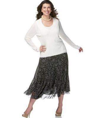 Jones New York Woman Dot-Print Skirt - Buy Jones New York Woman Dot-Print Skirt - Purchase Jones New York Woman Dot-Print Skirt (Jones New York, Jones New York Skirts, Jones New York Womens Skirts, Apparel, Departments, Women, Skirts, Womens Skirts)