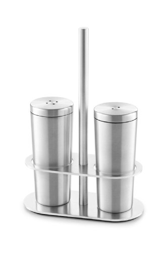 Zack 20054 Oveta Cruet Salt And Pepper Shaker Set With Holder front-600051