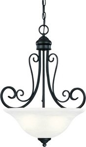Hardware House 544890 Tuscany 18-1/2-Inch by 23-Inch Chandelier Textured Black