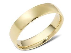 14K Yellow Gold, Inside Round Wedding Band (sz 9.5)