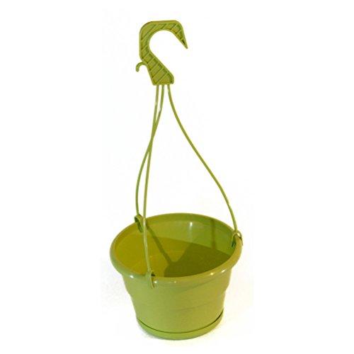 Confezione da 10x 18cm verde chiaro appendere Pentole con vassoio antigoccia rimovibile
