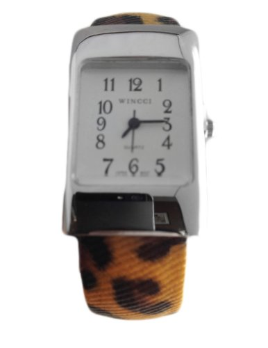 Womens Leopard Spots Cheetah Animal Print Watch - Silver - Analog Wristwatch