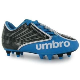Umbro Swerve HG Childrens Football Boots Black/Blue 13 Child UK UK