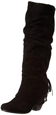 Naughty Monkey Women's Fall Fever Boot,Black,6 M US