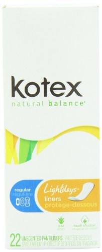 Kotex Lightdays Regular Unscented Liners-22 ct
