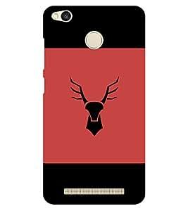 Chiraiyaa Designer Printed Premium Back Cover Case for Xiaomi Redmi 3S Prime (deer black sign) (Multicolor)