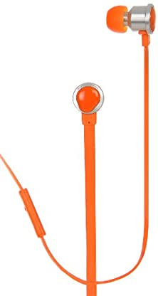 buy Painted Tunes A1Or High-Performance Flat Wire Earbuds With Microphone, Orange