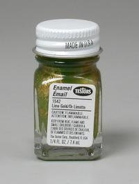 Lime Gold Metal Flake Testors Enamel Plastic Model Pain