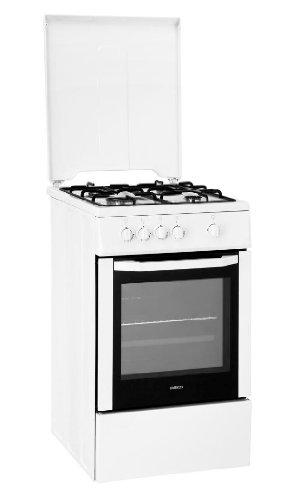 Beko CSG52001DW cuisinière - fours et cuisinières (Autonome, Blanc, Gaz naturel, Gaz, Convection, Grill, Rotatif)
