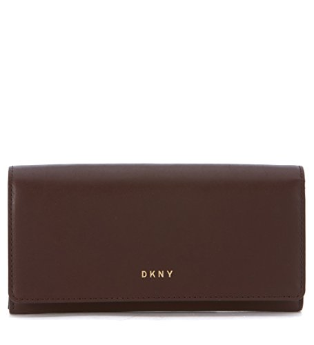 Portafoglio DKNY Carryal in pelle rosso bordeaux