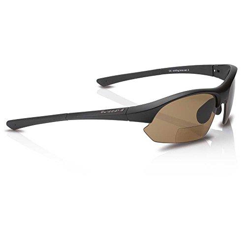 Swisseye Sportbrille Slide Bifocal Glas braun 2,5 dpt schwarz Fahrrad