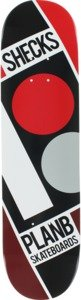 Plan B Ryan Sheckler Slanted Red / Black / White Skateboard Deck - 7.75